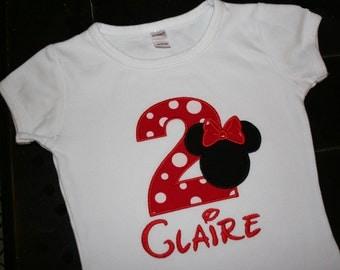 Minnie Birthday Shirt, Personalized Minnie Shirt, Minnie Mouse Birthday, Minnie Party Theme, Minnie Mouse, Custom Minnie Shirt, Minnie Girl