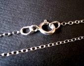 Mega Sale 1.99 each! 50 qty Wholesale Bulk Price- 18 Inch Sterling Silver 1.2mm Cable Chain - Finished and READY TO WEAR with Spring Clasp