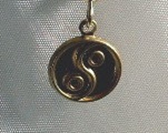 Men's Earrings CLEARANCE! Stamped Brass Yin and Yang Single Men's Earring