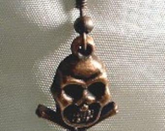 Men's Earrings CLEARANCE! Copper Skull and Cross Bones Single Men's Earring