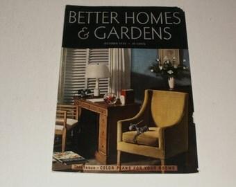 Vintage Better Homes and Gardens Magazine October 1935 - Retro 1930s Art Scrapbooking Paper Ephemera
