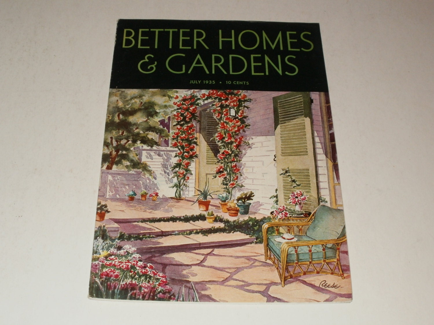 Vintage Better Homes And Gardens Magazine July 1935 Retro