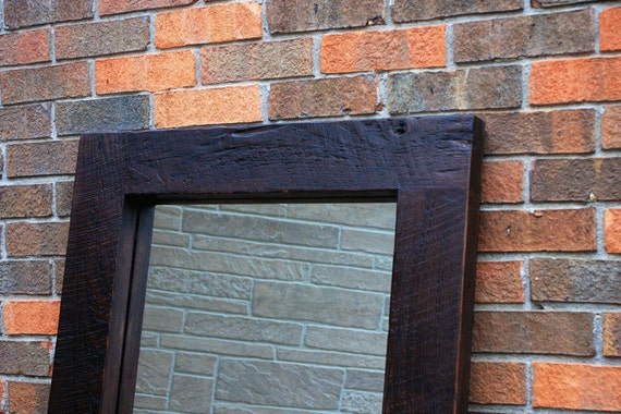 Framed floor mirror thick wooden frame mirror chunky framed for Framed floor mirror