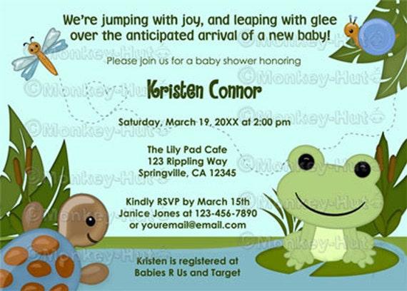 Invitaciónes para baby shower de rana - Imagui