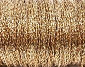 25 feet - Super Thin Vintage Golden Brass Snake Chain - Ultra Dainty