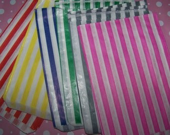 Treat Bags/Goodie Bags You Pick Your Colors 25 Bags Bitty Bags Red.Pink,Blue,Grey,Yellow,Green