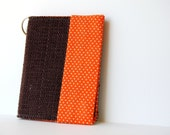 Key Chain Wallet, business card holder, Up-Cycled Fabric, Gift Card Holder, teachers gift
