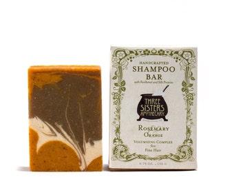Rosemary & Orange Shampoo Bar - 4.75 oz. - Volumizing Formula for Fine Hair