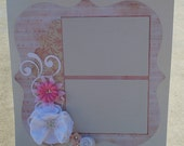 Soft pink premade scrapbook page