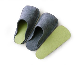 Spare Insoles of Felt Slippers, size S, M and L