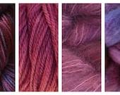 Hand Dyed Samples of Merino Wool DK Sport Weight Yarn in Pie Season