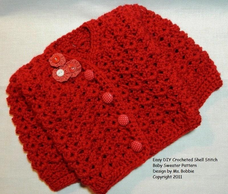 Easy Crochet Child Sweater Patterns : Baby Sweater Easy Crochet Tutorial Pattern PDF 224 Best