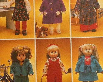 "18"" Doll Clothes Sewing Pattern UNCUT McCalls 2506 winter coat robe"