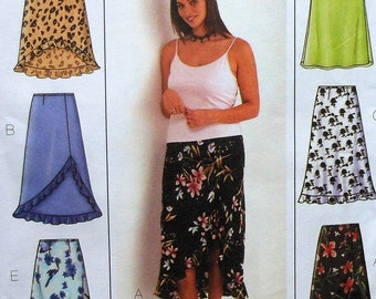 Skirt Sewing Pattern UNCUT Butterick 3783 Sizes 16W-20W  six variations skirts