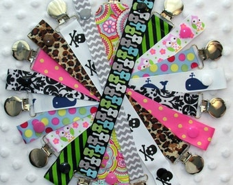 5 Soothie Pacifier Holder Clips Binky Dummy Clips
