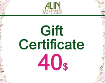 Jewelry Gift Certificate, 40, last minute gift