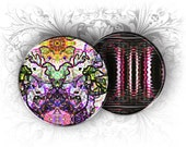 4 x 6 Abstract Rounds Micro Slide 1 Inch Circles Digital Collage Sheet Download and Print