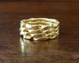 18K gold ring, stacking gold ring, 18K solid gold ring, gold stacking ring