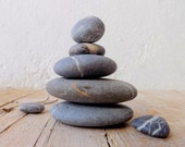 ZEN STONES meditation stacking stones japanese zen garden with OPTIONAL handmade pouch