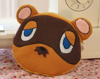 Tom Nook Animal Crossing Raccoon pouch