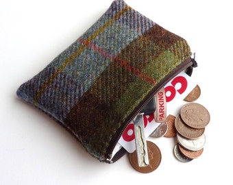 Harris Tweed change purse - coin purse - in MacLeod tartan