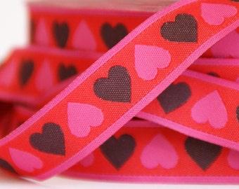 woven ribbon hearts