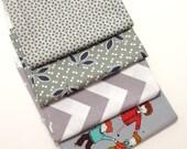 DESTASH - Gray Fabric Remnant bundle