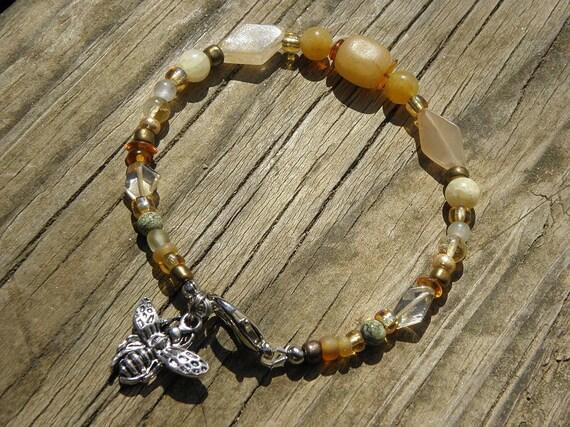 Melissa Goddess of Honey Bees Voice of the Hive Gemstone Bracelet