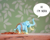 Nora the Wooly Mammoth Necklace