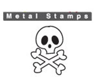 SKULL & BONES Metal STAMP Design 6mm ImpressArt Jewellery Steel Punch Tool Marking Craft Jewelry Making Gothic Skull and Crossbones Poison