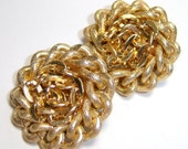 vintage gold tone Germany clip on earrings CS513