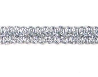 "E1901 Silver Metallic Gimp Sewing Upholstery Trim 1/2"" (E1901-MSL)"