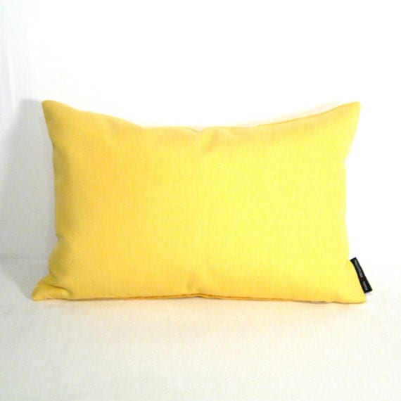 Butter Yellow Outdoor Pillow Cover Modern Outdoor by Mazizmuse