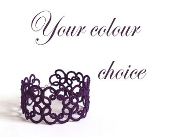 Custom Lace Bracelet - Your Colour Choice - Christina