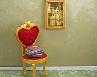Doll House Wall Hanging - Grecian Lady - Gold Frame