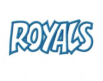 Instant Download Royals Embroidery Machine Applique Design 2987