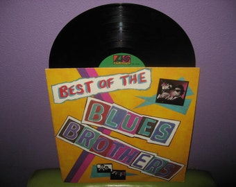 FINAL SALE Vinyl Record Album Best of The Blues Brothers LP 1981 Blues Rock John Belushi Dan Ackroyd