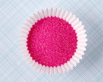 Pink Sanding Sugar, Pink Sugar, Wedding Sugar Sprinkles, Cocktail Rimming Sugar (2 oz) SMALL Bag