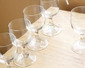SALE Cordial Glasses, Simple and Sweet, Set of 5