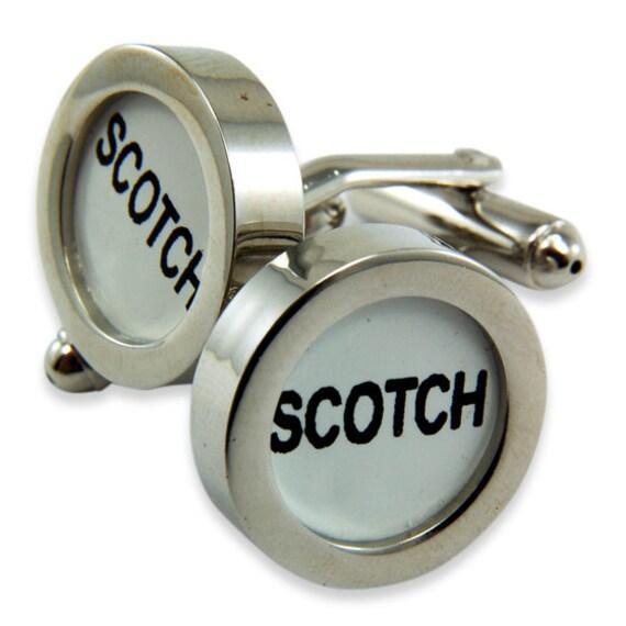 Scotch Cufflinks Cash Register Key Cufflinks -White SCOTCH  Key - by Gwen DELICIOUS Jewelry Design