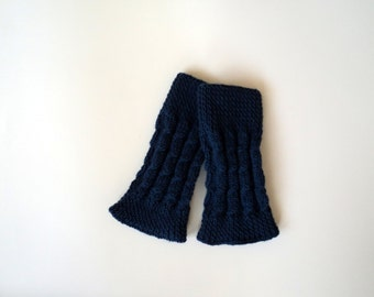 Valentines, Deep Blue, Wool ,Shoes,Knitted ,Boots Cuffs