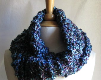 Mottled Stormy Skies Blues and Purples Infinity Cowl Scarf Neck Warmer