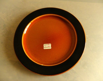 Mid-Century Retro (Amber) Burnt Orange and Brown Taylor Smith and Taylor Dinner Plate - 1957