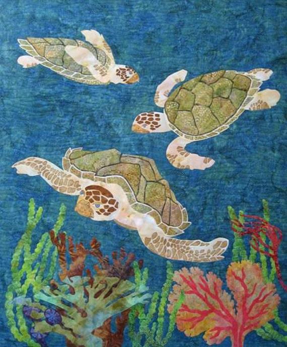 Follow Me Sea Turtles O Carol Morrissey Quilt Pattern