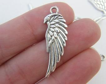 6 Wing pendants tibetan silver AW21
