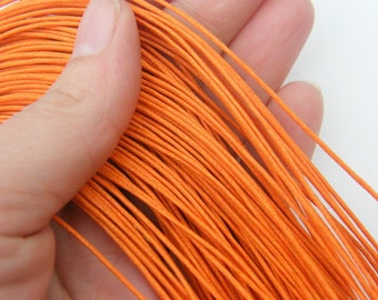 80M Orange waxed cord 1mm