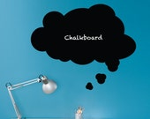 Thought Bubble Chalkboard Wall Decal - Speech Bubble