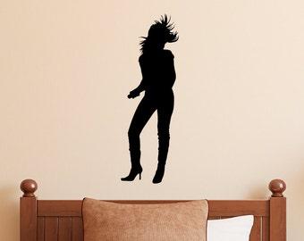 Singer Decal - Rock n Roll Wall Decal - Rockstar Decal - Music Wall Sticker