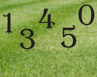 Set of 3 Lawn Numbers / House Numbers / Giant Numbers  / Address / Letters / Sign / Metal / Large / Yard / Business / Restaurant / Office