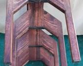 Cowboy Hat Rack Wall Mount 4 Western Hats Alder Wood  Quality Hand Made Craftsmanship